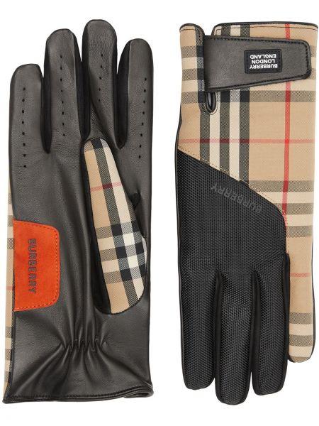 Beżowe rękawiczki skorzane vintage Burberry