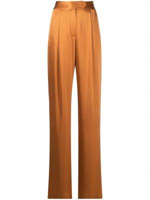 Брюки с завышенной талией - коричневые Michelle Mason