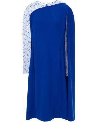 Синее платье с разрезом из фатина на крючках Jenny Packham