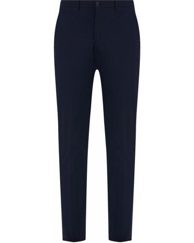 Зауженные брюки черные с карманами Prada