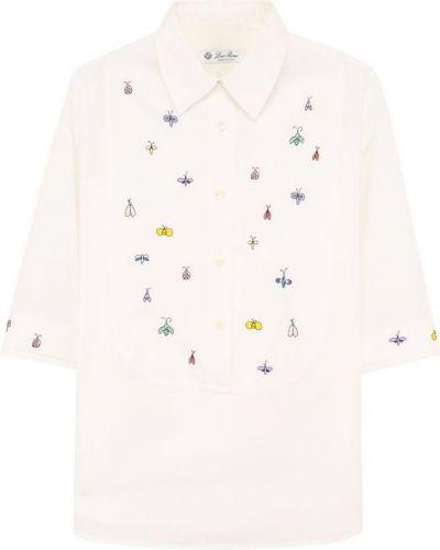 Блузка с вышивкой хлопковая Loro Piana