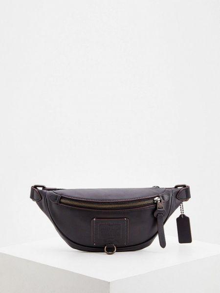 Черная поясная сумка из искусственной кожи Coach