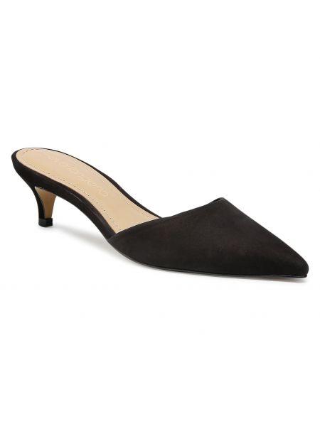 Sandały skórzane eleganckie - czarne Eva Longoria