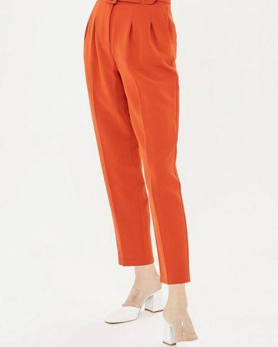 Оранжевые брюки повседневные Topshop