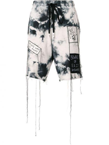 Czarne szorty z haftem bawełniane Haculla