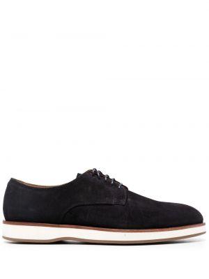 Синие замшевые туфли на шнуровке Boss Hugo Boss