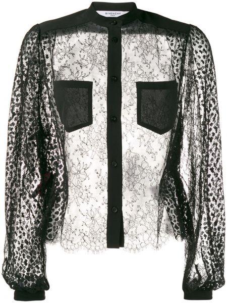 Bluzka z długim rękawem jedwabna długa Givenchy