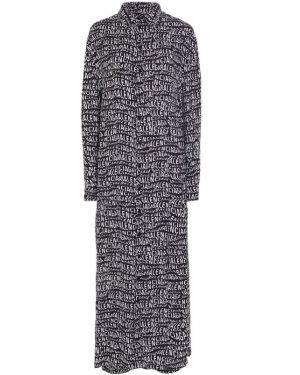 Платье макси на пуговицах с поясом Balenciaga
