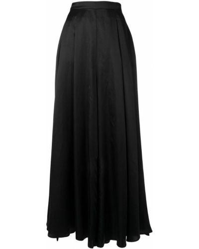 Черные расклешенные свободные брюки с поясом Lardini
