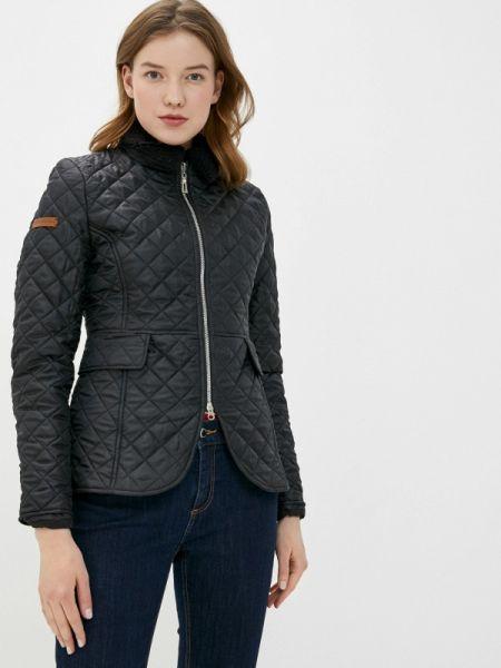 Утепленная куртка демисезонная черная Fashion.love.story