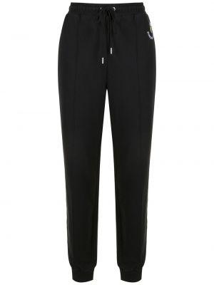 Хлопковые черные спортивные брюки эластичные Markus Lupfer