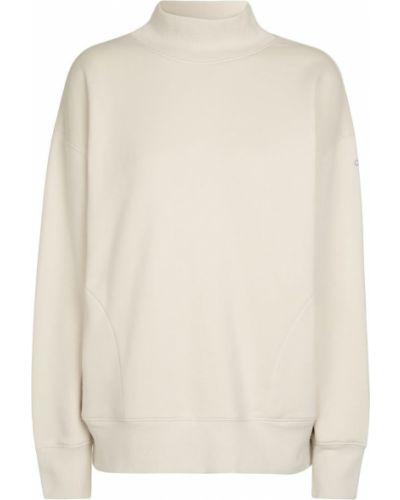 Biała bluza dresowa bawełniana Alo Yoga