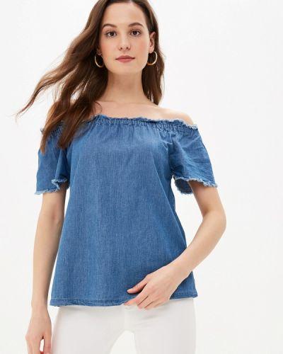 Блузка с открытыми плечами турецкий синяя Lc Waikiki