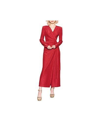 Вечернее платье красный ли-лу