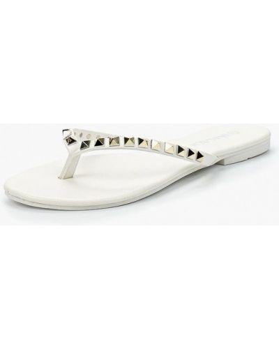 Белое кожаные сабо Malien