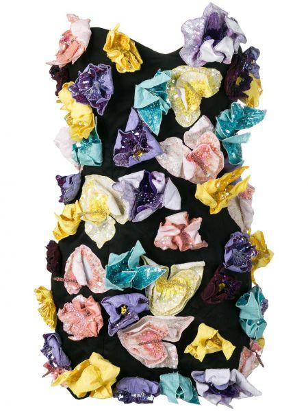 Czarna sukienka mini bawełniana Attico