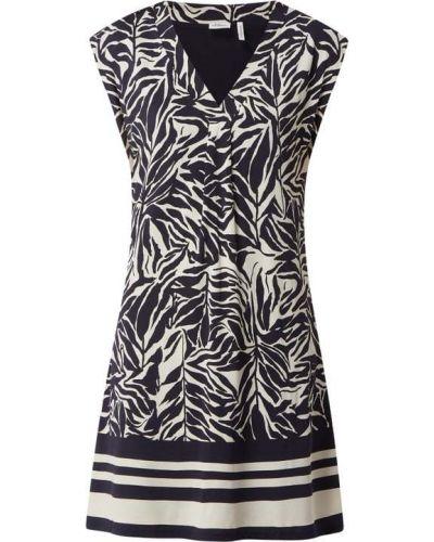 Sukienka z dekoltem w serek - czarna S.oliver Black Label