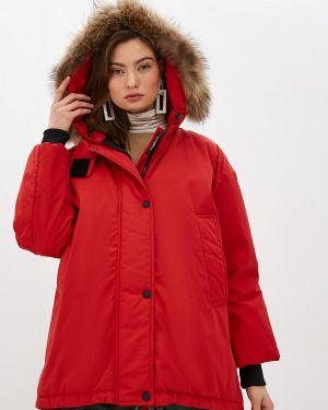 Зимняя куртка осенняя красная Weekend Max Mara
