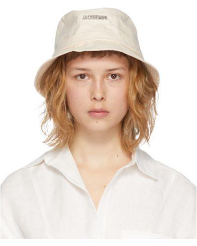 Ватная хлопковая белая шапка Jacquemus