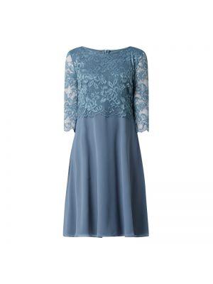 Sukienka koronkowa - niebieska Vera Mont