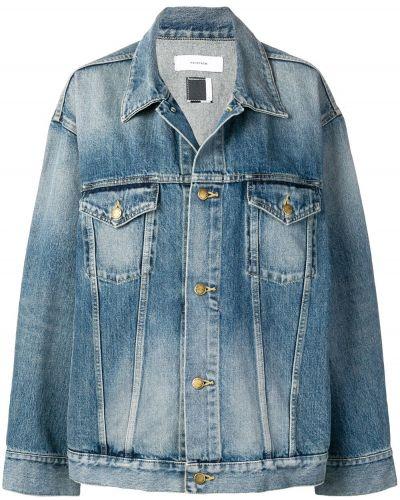 Джинсовая куртка свободного кроя на пуговицах Facetasm