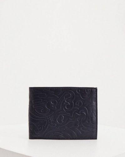 Синий кошелек из натуральной кожи John Richmond