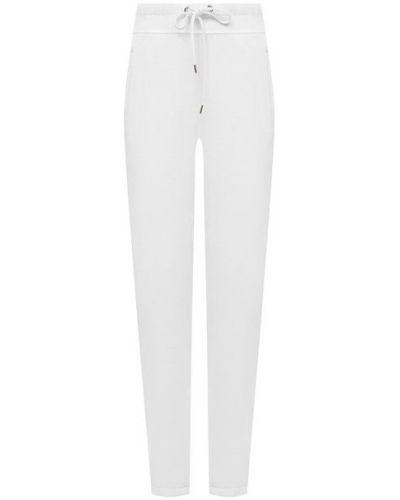 Трикотажные белые укороченные брюки James Perse