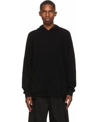 Czarna bluza długa z kapturem z długimi rękawami Frenckenberger