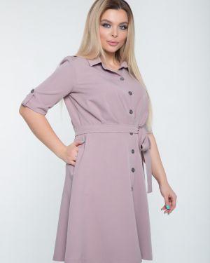 Платье с поясом на пуговицах платье-сарафан тм леди агата