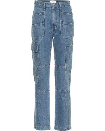 Ватные хлопковые синие повседневные джинсы Slvrlake