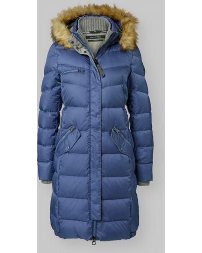 Стеганая синяя куртка с мехом Marc O' Polo