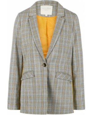 Пиджак серый в клетку Tom Tailor Denim