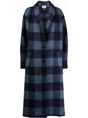 Синее шерстяное пальто Isabel Marant étoile