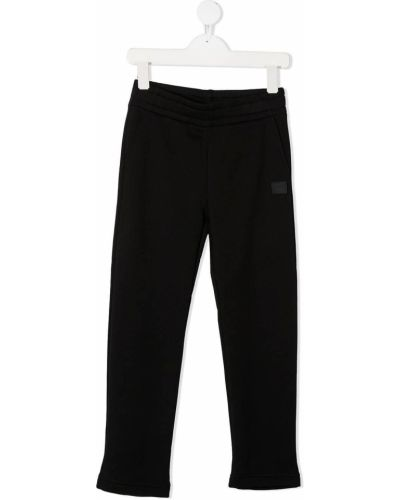 Хлопковые черные спортивные брюки с поясом Acne Studios