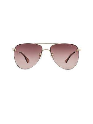 Солнцезащитные очки металлические - золотые Le Specs