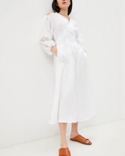Белое платье с запахом Beatrice.b