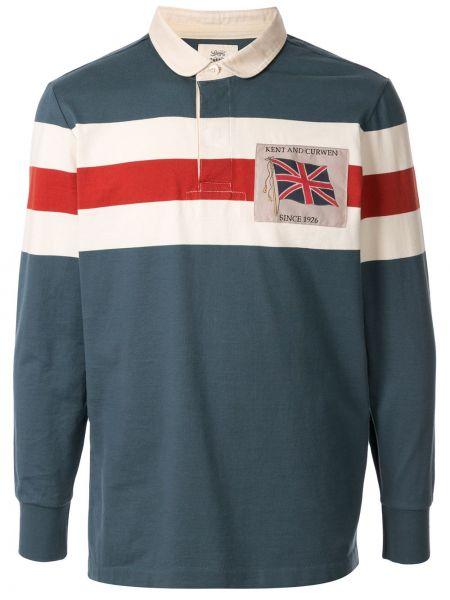 Классическая рубашка узкого кроя с заплатками на пуговицах Kent & Curwen