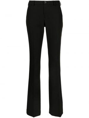 Расклешенные черные брюки на пуговицах Pt01