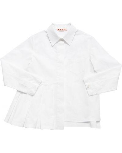 Klasyczna biała klasyczna koszula bawełniana Marni Junior