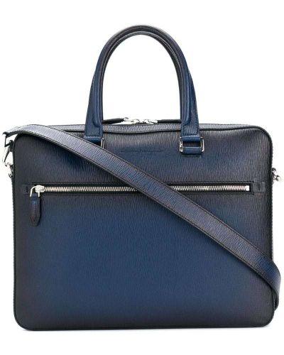 Синий чемодан на молнии Salvatore Ferragamo