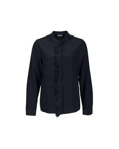 Блузка с жабо черный Emporio Armani