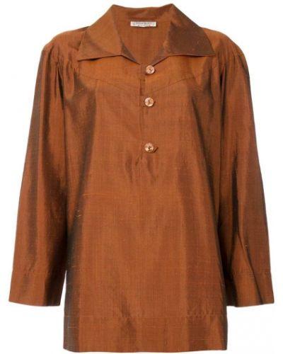 Шелковая туника - коричневая Yves Saint Laurent Vintage