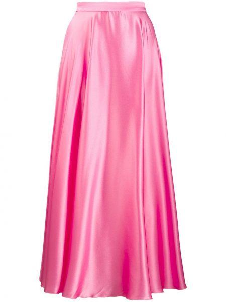 Юбка макси с завышенной талией розовая Msgm