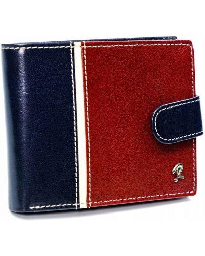 Czerwony portfel skórzany Rovicky