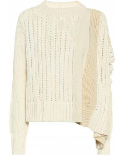 Шерстяной свитер - белый Sacai