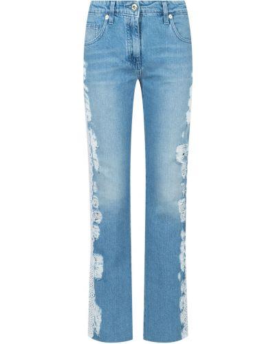 Укороченные джинсы с заклепками синие Blumarine
