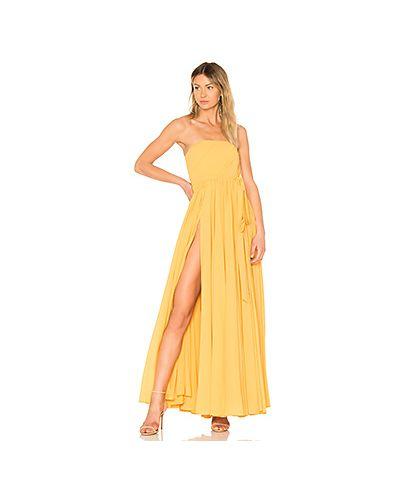 Вечернее платье с поясом на молнии Michael Costello