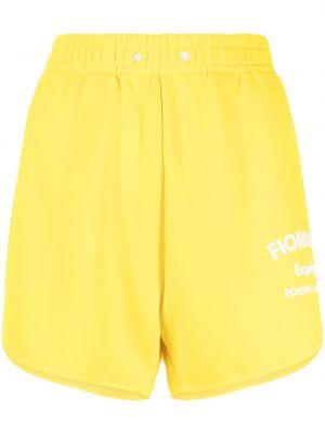 Żółte szorty bawełniane Fiorucci