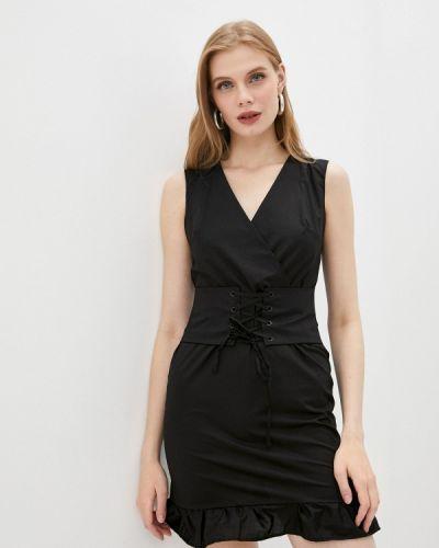 Черное прямое платье Giorgio Di Mare