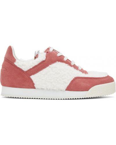 Różowe sneakersy sznurowane koronkowe Comme Des Garcons Shirt